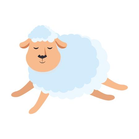 Cute sheep character icon vector illustration design Illustration