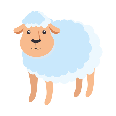 Cute sheep character icon vector illustration design Illusztráció