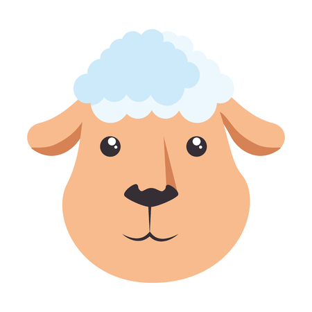 Cute sheep character icon vector illustration design Illustration