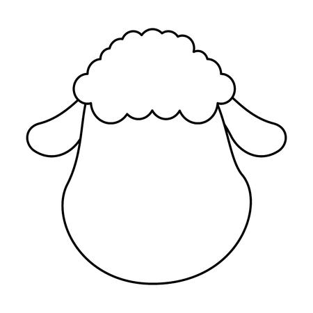 cute sheep character icon vector illustration design Stock fotó - 85030857