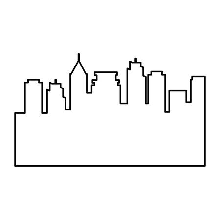 도시 실루엣 격리 아이콘 벡터 일러스트 디자인 일러스트
