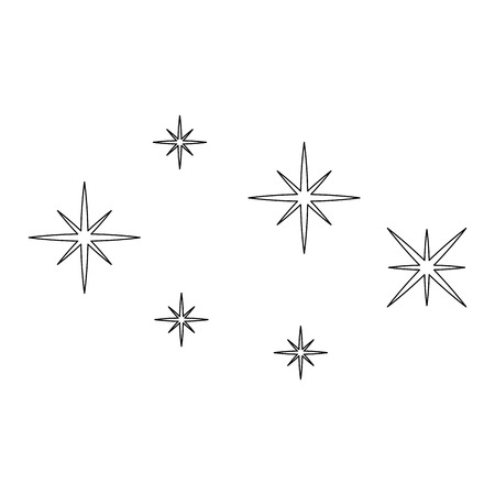 starry sky scene icon vector illustration design
