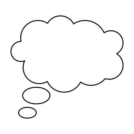 chmura marzeń na białym tle ikona wektor ilustracja projekt