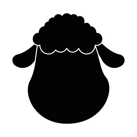 cute sheep character icon vector illustration design Stock fotó - 85030926