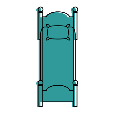 silent: comfortable bed isolated icon vector illustration design Illustration