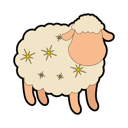 cute sheep character icon vector illustration design Stock fotó - 85031448