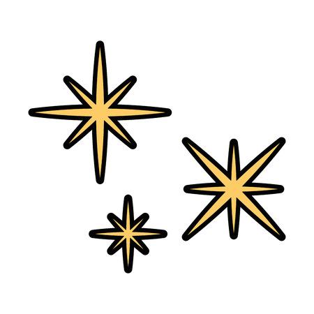 Sternenhimmel Szene Symbol Vektor-Illustration Design Standard-Bild - 85031456