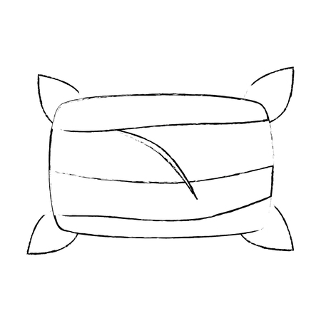 spongy: Comfortable pillow isolated icon vector illustration design