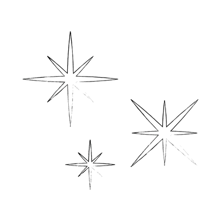 星空シーンアイコンベクトルイラストデザイン