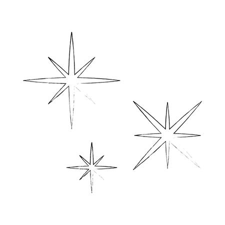 Sternenhimmel Szene Symbol Vektor-Illustration Design Standard-Bild - 85031928