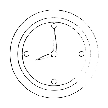 Zeituhr lokalisiertes Ikonenvektor-Illustrationsdesign Standard-Bild - 85031929