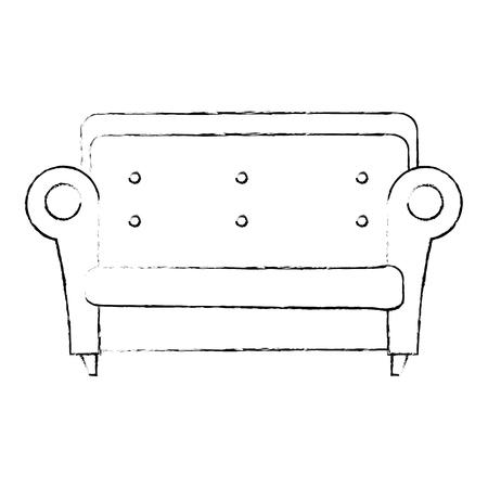 快適なソファ孤立したアイコンベクトルイラストデザイン  イラスト・ベクター素材