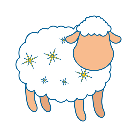 cute sheep character icon vector illustration design Stock fotó - 85043371