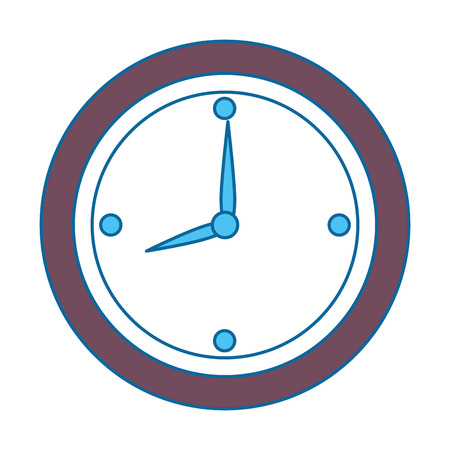 time clock isolated icon vector illustration design Banco de Imagens