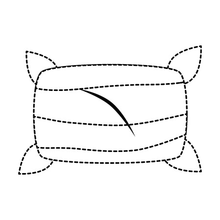 快適な枕孤立アイコンベクトルイラストデザイン