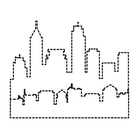 도시 실루엣 격리 아이콘 벡터 일러스트 디자인 스톡 콘텐츠 - 85043399