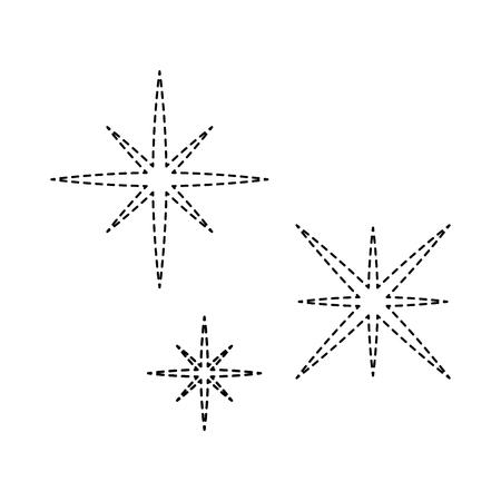 星空のシーンのアイコン ベクトル イラスト デザイン  イラスト・ベクター素材