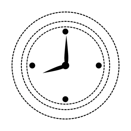 time clock isolated icon vector illustration design Ilustração