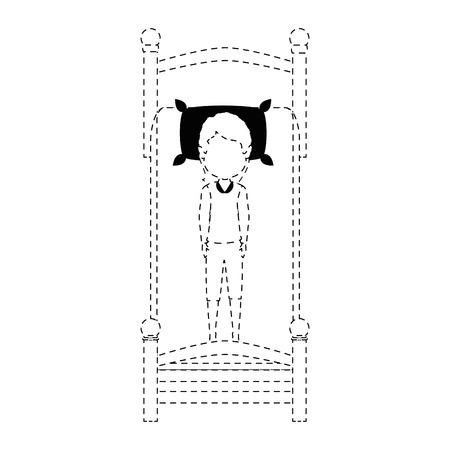 Donna che dorme sul letto illustrazione vettoriale illustrazione Archivio Fotografico - 85043492