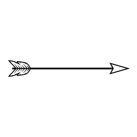 arrow icon over white background vector illustration 向量圖像