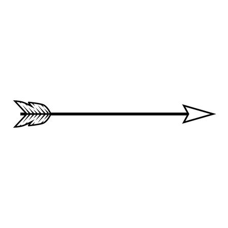 arrow icon over white background vector illustration Ilustração