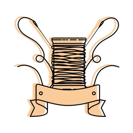 thread spool icon over white background vector illustration Ilustracja