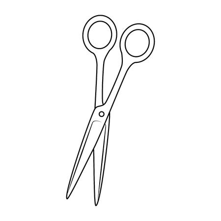 Ciseaux icône sur fond blanc illustration vectorielle Banque d'images - 85062492