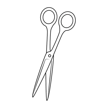 scissor icon over white background vector illustration