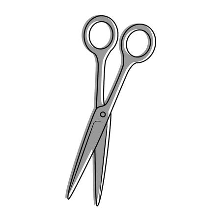 Icône de ciseaux sur illustration vectorielle fond blanc Banque d'images - 85068248