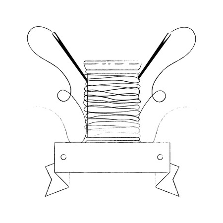 thread spool icon over white background vector illustration Иллюстрация