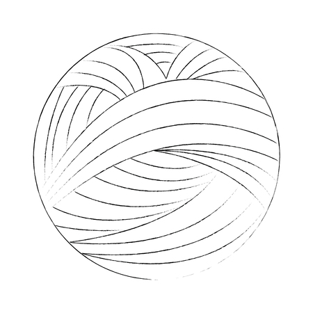 yarn ball icon over white background vector illustration