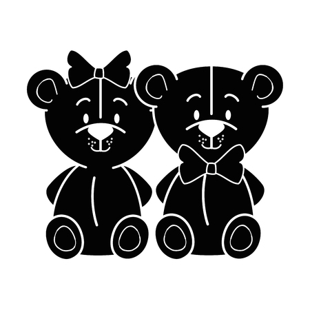 couple of mouses icon over white background vector illustration