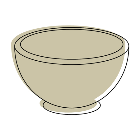 bowl icon over white background vector illustration Ilustracja