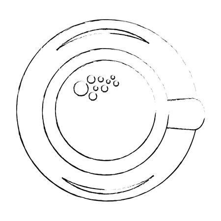 coffee mug icon over white background vector illustration Иллюстрация