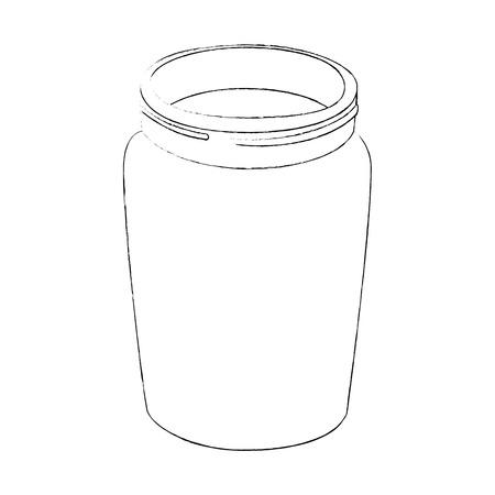 glass bottle icon over white background vector illustration