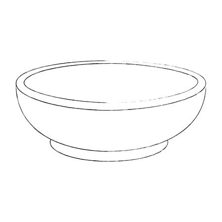 Kom icoon over witte achtergrond vector illustratie
