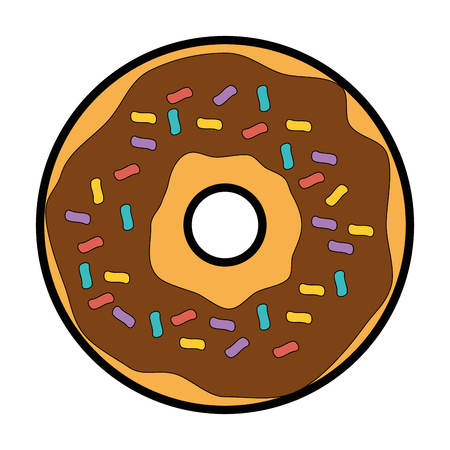 sweet donut icon over white background vector illustration Ilustração