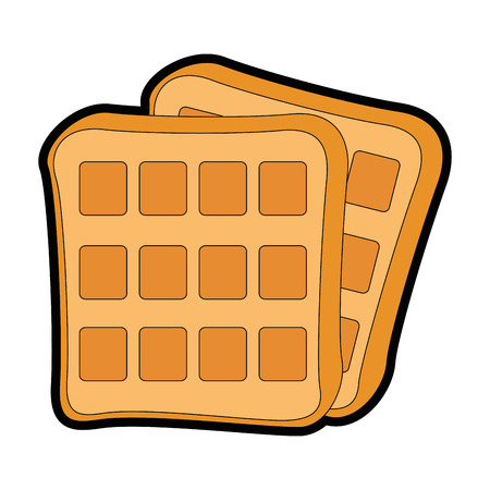 waffles icon over white background vector illustration