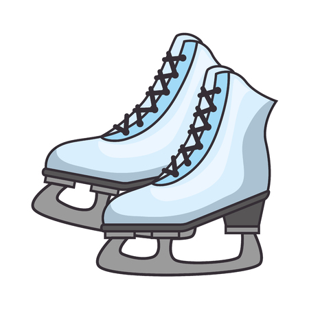 patins à glace isolé icône du design d & # 39 ; illustration vectorielle