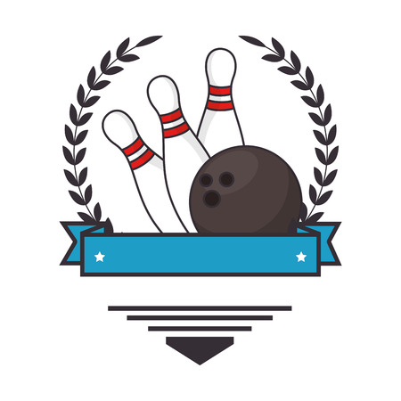 bowling ball and pines sport icon vector illustration design Illustration