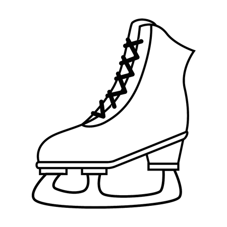 ice skates isolated icon vector illustration design