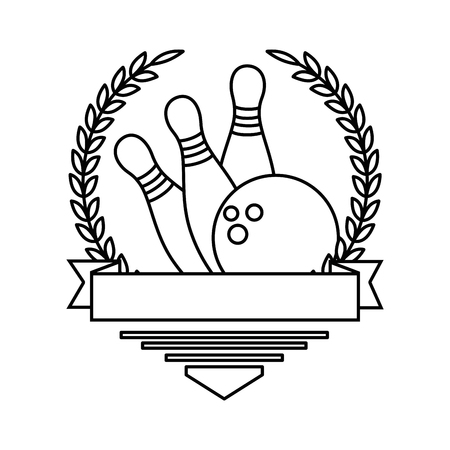 bowling ball and pines sport icon vector illustration design Stock Illustratie