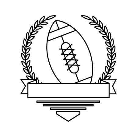 Progettazione dell & # 39 ; illustrazione di vettore del pallone di football americano Archivio Fotografico - 85070650