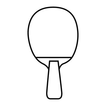 tennis table racket sport icon vector illustration design Illustration