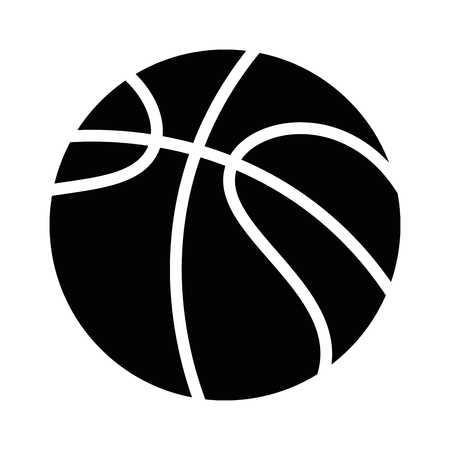 Basketbal ballon embleem pictogram vector illustratie ontwerp Stockfoto - 85070651
