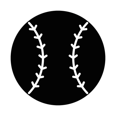 baseball ball emblem icon vector illustration design Çizim