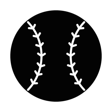 ontwerp van de het pictogram het vectorillustratie van het honkbalbal embleem