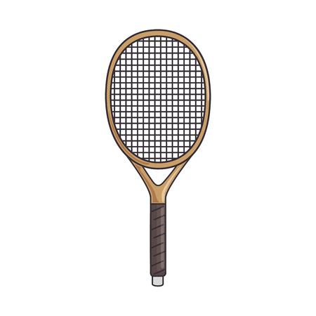 tennis racket isolated icon vector illustration design Ilustrace