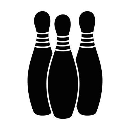 ボウリングパインズスポーツアイコンベクトルイラストデザイン  イラスト・ベクター素材