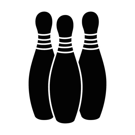 bowling pines sport icon vector illustration design